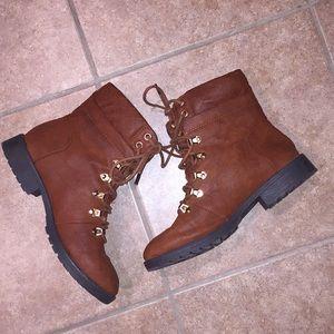 shoedazzle Women's Rylan Combat Boots, 8.5